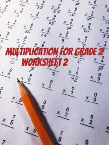 Math Quiz Multiplication worksheet 2 for grade 2 (Questions and Answers)