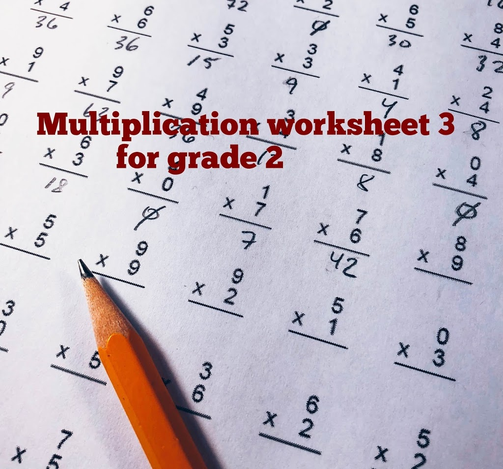 multication 2Bworksheet 2B3