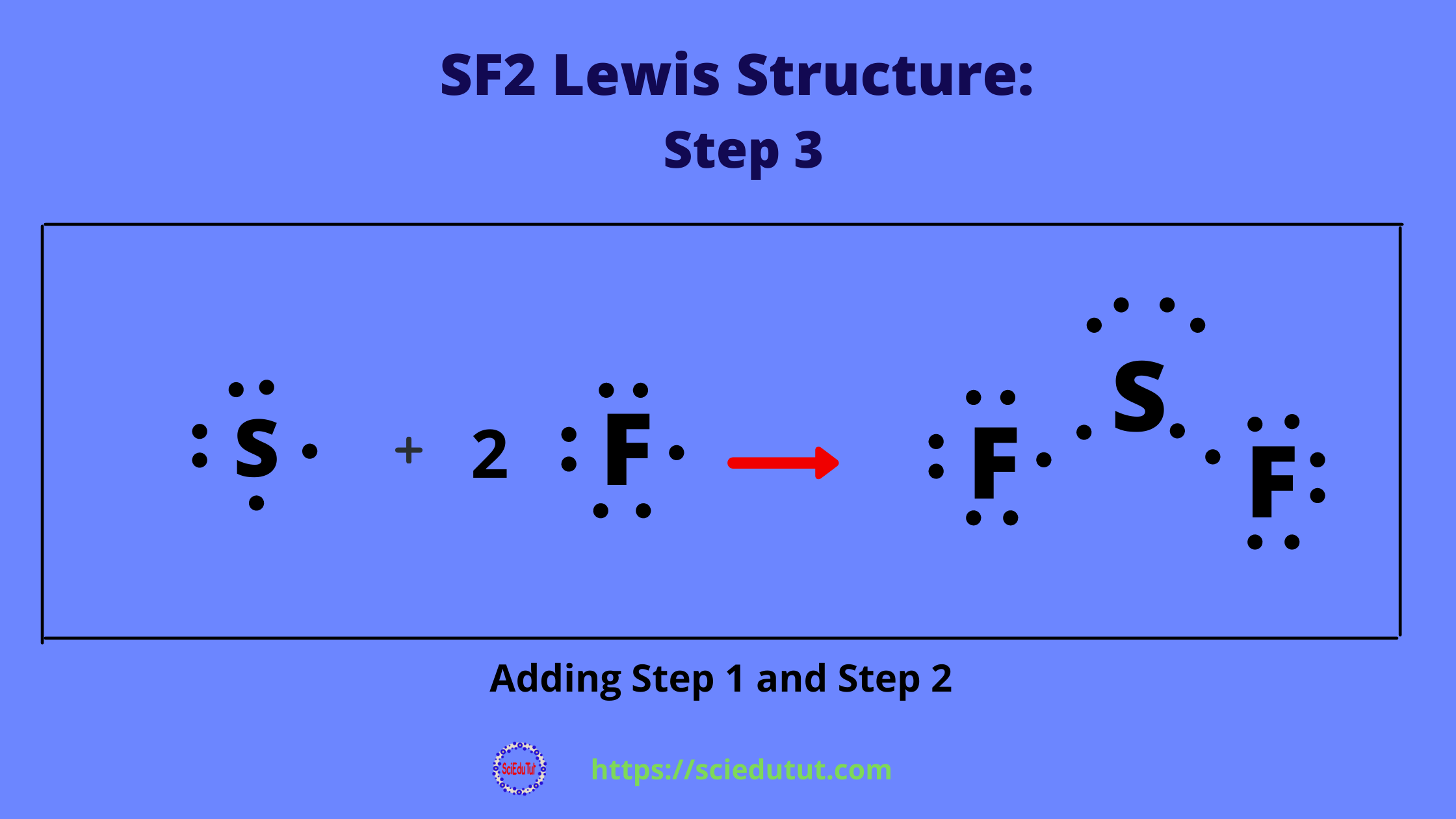 How to draw SF2 Lewis Structure?
