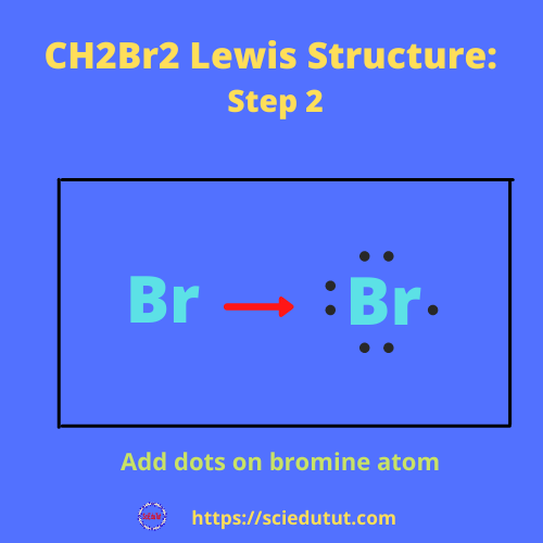 CH2Br2 lewis stru step 2