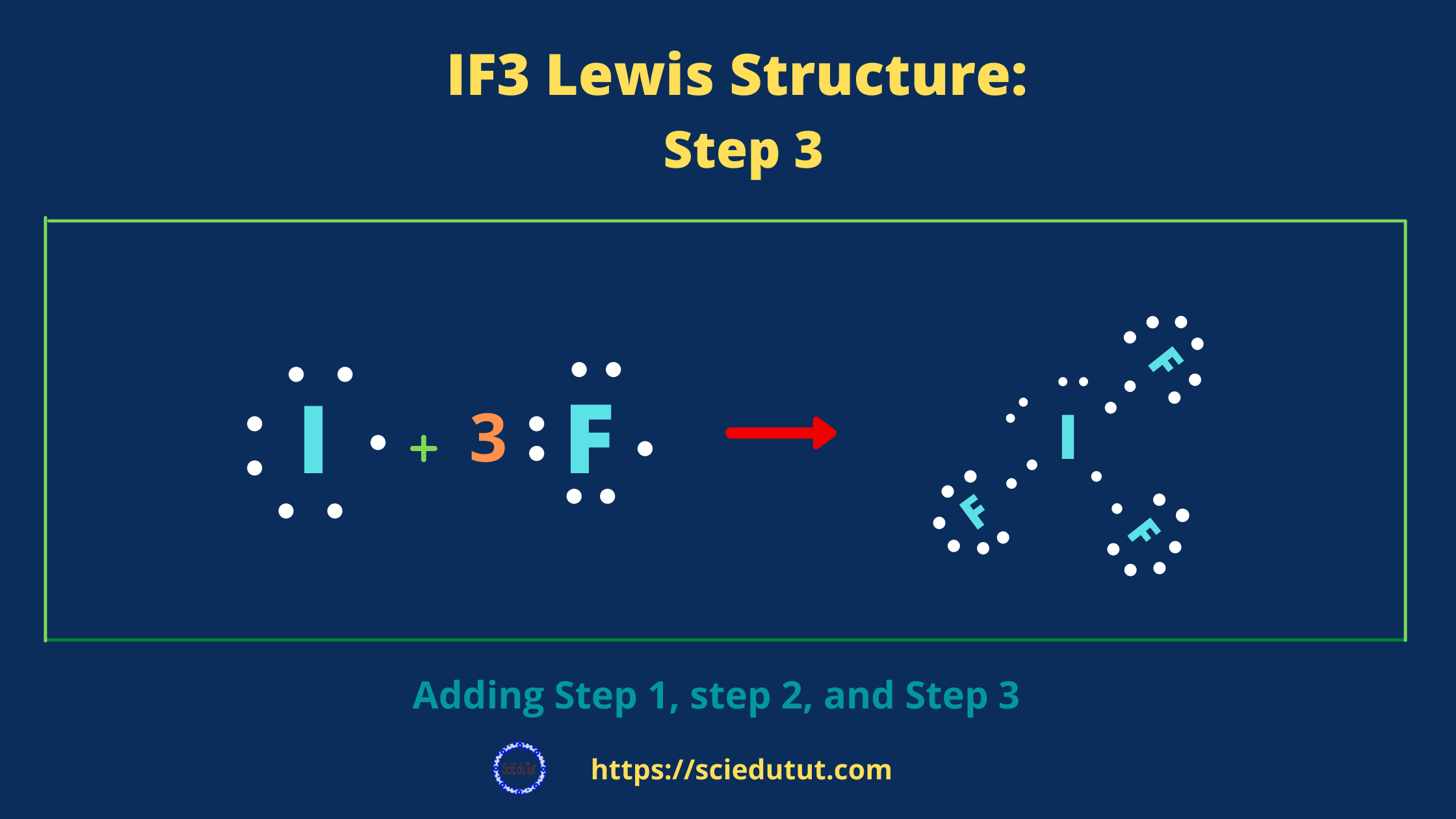 How to draw IF3 Lewis Structure?